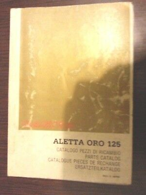 Cagiva 125 Aletta Oro 1985 catalogo ricambi originale moto spare parts catalogue