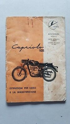 Aeromere Capriolo 100 1961 manuale uso originale owner's manual