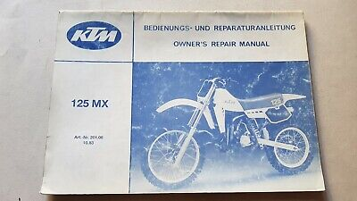 KTM 125 MX 1983 manuale uso / officina riparazione owner's-repair manual