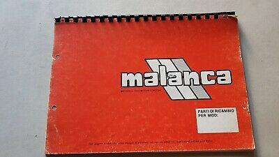 Malanca catalogo ricambi modelli 125 -50 anni 80 ORIGINALE spare parts catalogue