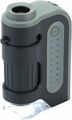 Carson MicroBrite Plus 60x-120x LED Lighted Pocket Microscope
