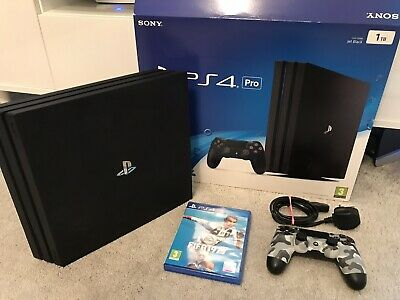 SONY PLAYSTATION 4 PRO - 1TB Games Console BLACK With BRAND NEW FIFA 19 Game PS4