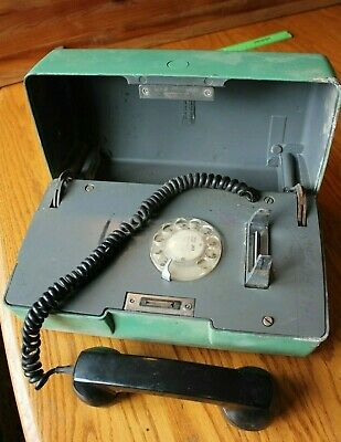 Western Electric Rotary Emergency Metal Call Box Telephone Vintage Bell System