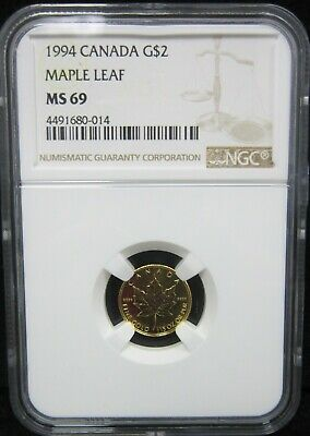 1994 Canada G$2  Maple Leaf Ngc Ms-69 Rare    ¤Dn¤