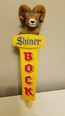 "Shiner Bock Ram Head Texas Goat 11"" Draft Beer Keg Tap Handle"