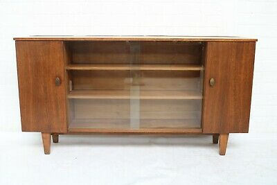 Vintage Mid Century Teak Display Cabinet With 2 Cupboards Good Condition !!!