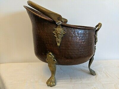 Cooper And Brass Coal Scuttle - Edwardian