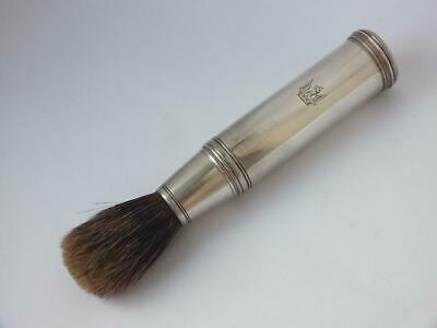 Crested Antique Victorian Solid Sterling Silver Shaving Brush 1845/ L 13.5 cm