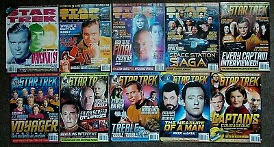10 Star Trek Official Magazines Issues 116, 125-129, 131, 132, 135-6 (2004-2008)