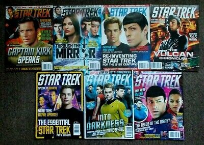 7 Star Trek Official Magazines Issues 140, 142, 144, 155, 164, 172, 173 (2008-13