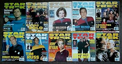10 Star Trek Official Monthly Magazines Issues 56, 58, 59, 61-67 (1999-2000)