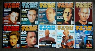 10 Star Trek Official Monthly Magazines Issues #28 - #37 (June 1997 - Mar 1998)