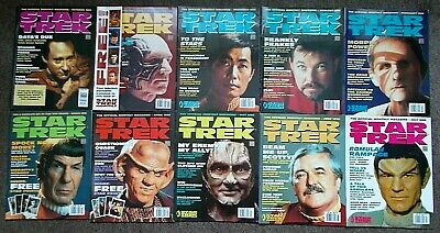 10 Star Trek Official Monthly Magazines Issues #8 - #17 (Oct 1995 - July 1996)