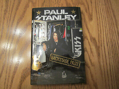 KISS - PAUL STANLEY  SIGNED book Backstage Pass with pictures from event