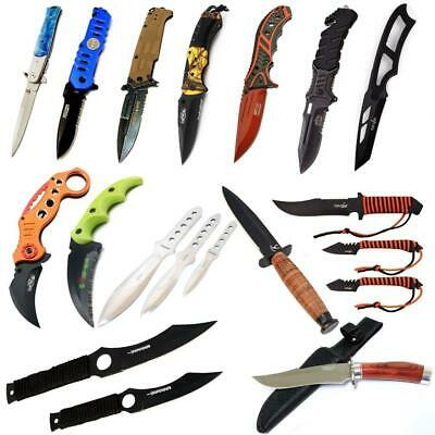 14PC Lot Full Tang Fixed Blade Spring Assisted & Karambit Throwing knife set