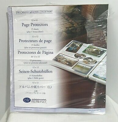 Creative Memories PAGE PROTECTORS Scrapbook Album Refill 12x12 24 Sheets Opened