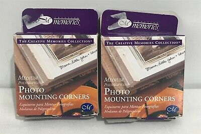 Creative Memories PHOTO MOUNTING CORNERS Medium 250 Each Lot of 2