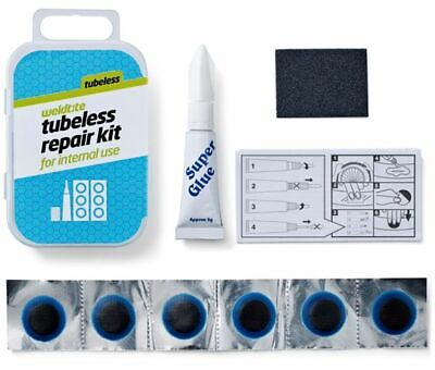 Weldtite Tubeless Internal Use Cycle Puncture Patches Glue Bike Repair Kit