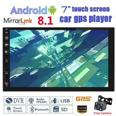 """7"""" SD Android 8.1 WiFi Double 2DIN Car Radio Stereo no DVD Player GPS AUX+Camera"""