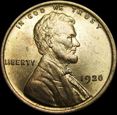 1920 Lincoln Cent Wheat Penny   ---- Gem BU++ Condition ---- #S045