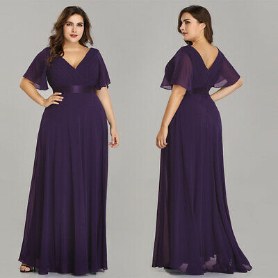 Ever-Pretty Formal Plus Size Beach Wedding Mother of Bride Maxi Dresses 09890