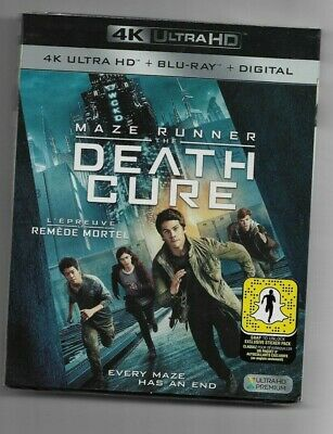 Sealed 4k ULTRA HD + Blu-Ray + Digital THE MAZE RUNNER  DEATH CURE Also French