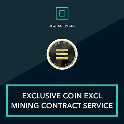 5 Exclusive coin EXCL mining contract cryptocurrency blockchain