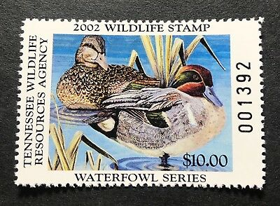 WTDstamps - Tennessee 2002 - State Duck Stamp - Mint OG NH