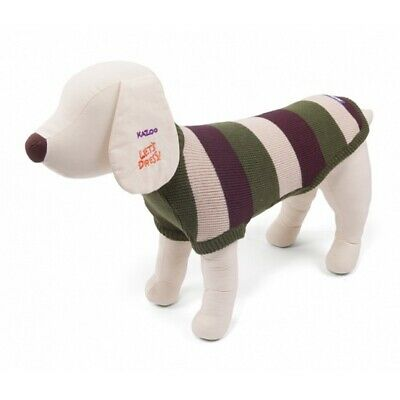 New Kazoo Staffy Dog Jumper Olive & Brown Extra Large