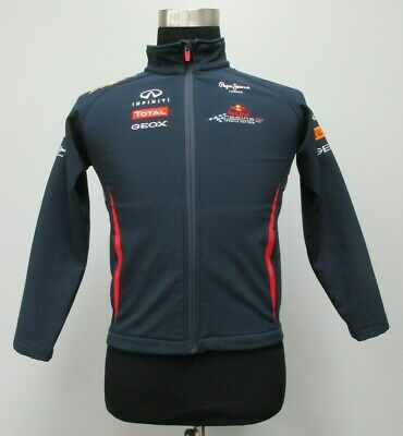 b8cd86d88085 Red Bull Racing Soft Shell Full Zip Jacket F1 Womens S Small Blue SEWN Red