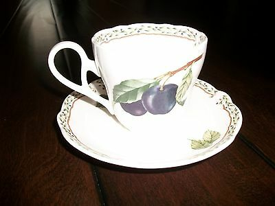 Noritake Royal Orchard 9416 Cup & Saucer Excellent Condition
