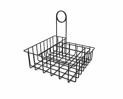 Square Wire Condiment Caddy Stand Salt Pepper Sugar Ketchup Organizer Caddy