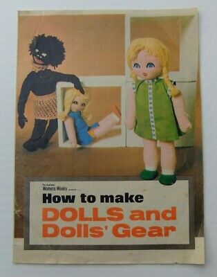 1972 Womens Weekly Insert - How To Make Dolls And Dolls Gear - Sew & Knit