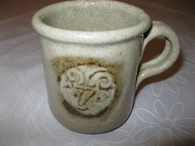 Australian Studio Potters Mug - Aries design.