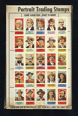 1949 Topps Test Stamps X-Ray Round Up 25 Cowboys Baurs Aunt Hannah's Bread Promo