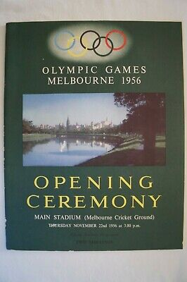 Olympic Games Collectable 1956 Melbourne Opening Ceremony Official Programme
