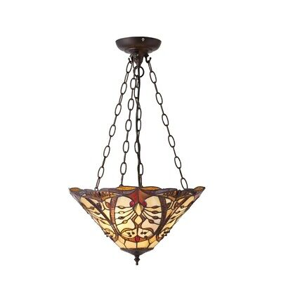 SUSPENSION EN VERRE beige nacré neuve Made In CEE EUR 28