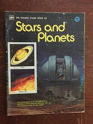 Vintage 1975 The Golden Stamp Book of Stars and Planets Sticker Book
