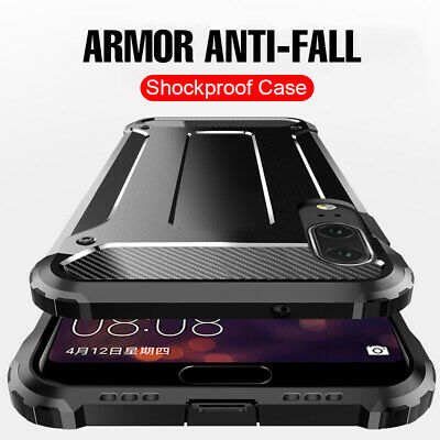 For Huawei Y6 Y7 Y9 2019 2018 Shockproof Hybrid Dual Protect Armor Case Cover