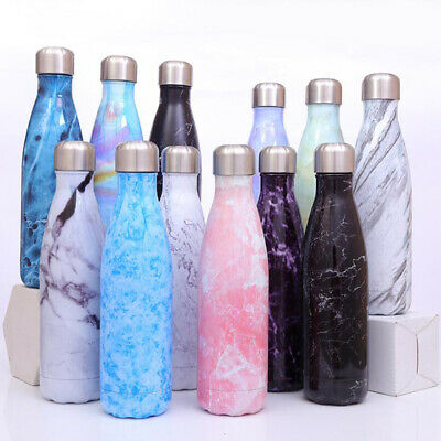 500ML Water Bottle Vacuum Insulated Flask Thermal Sport Chilly Drinks Cold Cups