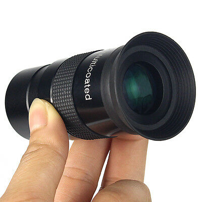 "1.25"" Multi-coated Telescope Eyepiece Ultra Wide Angle 80 Degree F16mm Black hot"