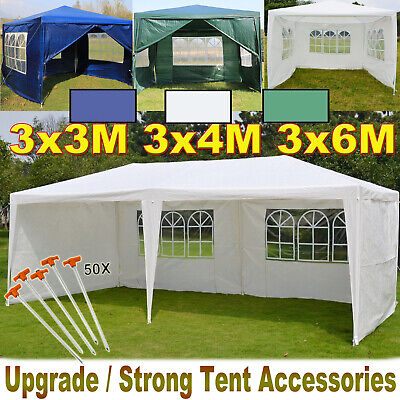 Gazebo Waterproof Garden Outdoor Side Marquee Wedding Party PE Tent 3x6m 3x4 3x3