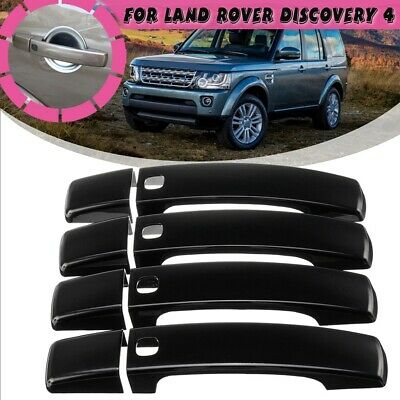 8PCS Gloss Black Door Handle Covers Fits For Land Rover Discovery 4 2010-2016