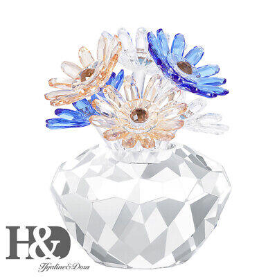 Crystal Daisy Flower Figurines Ornaments Valentine Christmas Gift Wedding Decor