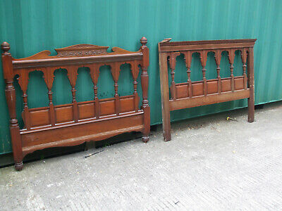 Antique Liberty Moorish  Arts and Crafts double bed, made by Shapland and Petter
