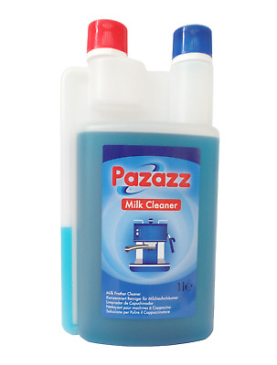 PAZAZZ Milk System Cleaner 1.0Ltr Detergent Rinse for All Coffee Machines