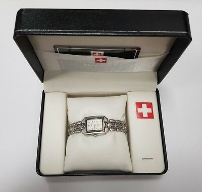 ~30~ Montre Suisse ~ Ladies Quartz Wrist Watch ~ Silver Coloured Swiss Design ~