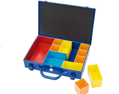 Draper 22296 Metal Case with carrying handle 11 Compartment Organiser