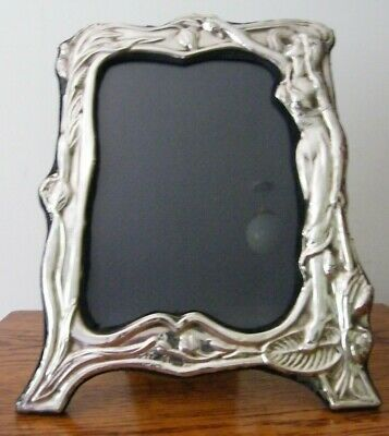 """Hallmarked London 1986 Solid Silver Art Nouveau Photo Picture Frame 10.25"""""""