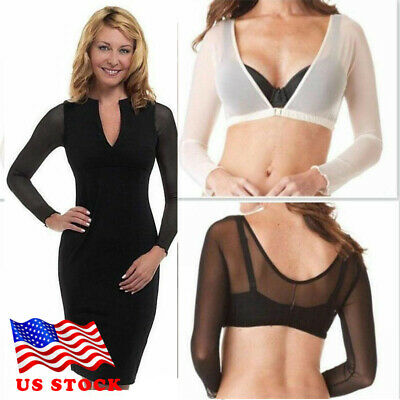 Plus Size Seamless Arm Shaper Sleevey Wonders Women Wrap Short Cropped Mesh USA